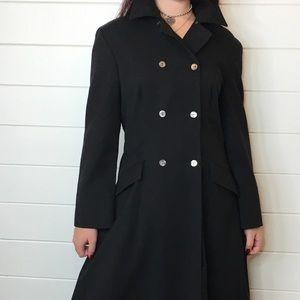 Vintage jaeger dress wool light coat